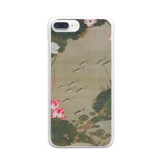 伊藤若冲 《蓮池遊魚図》 Clear Smartphone Case