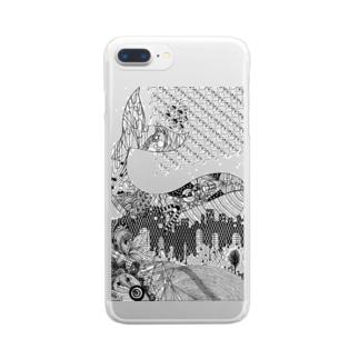 切り絵・ゴールデンスランバー Clear smartphone cases