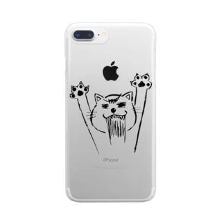 ネコニャース Clear smartphone cases