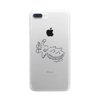 ひらひらハナイカちゃん Clear smartphone cases