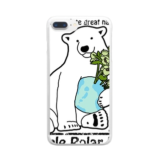Simple Polar Bear クリアスマートフォンケース