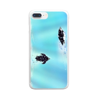 海のペンギン 縦長 Clear Smartphone Case
