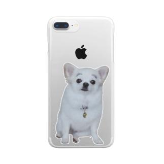 まゆげこむぎこ Clear Smartphone Case