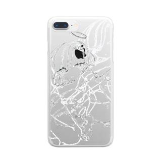 見んな 残像 Clear smartphone cases