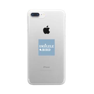 ウクレレバード公式グッズ(スクエアロゴ) Clear Smartphone Case