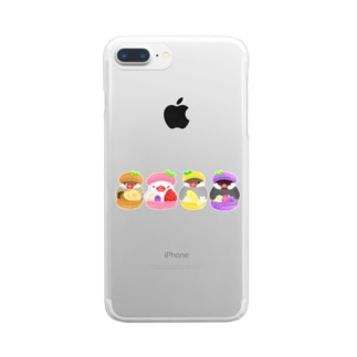 マカロン文鳥ず Clear Smartphone Case