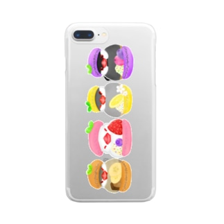 Lily bird(リリーバード)のマカロン文鳥ず 縦長 Clear Smartphone Case