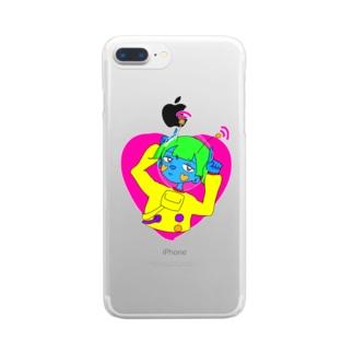 宇宙人チャン Clear smartphone cases