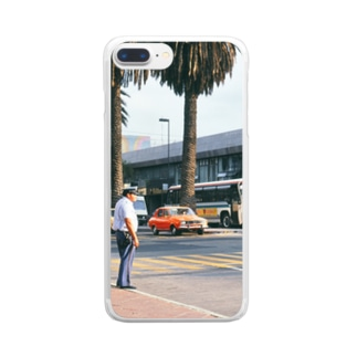 FUCHSGOLDのメキシコ:メキシコシティの風景写真 Mexico: view of Mexico City Clear smartphone cases