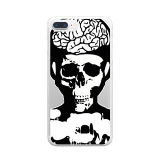 髑髏 Clear smartphone cases