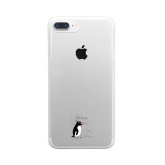 空とぶペンギン舎のマユダチペンギン Clear smartphone cases