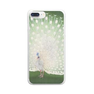 小原古邨 《孔雀》 Clear smartphone cases