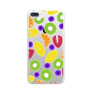 カラフルーツ Clear smartphone cases