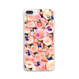 flowerビーム Clear smartphone cases