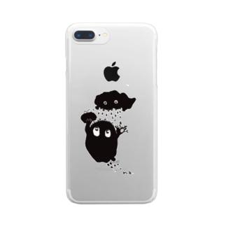 雨降りごっこ Clear smartphone cases