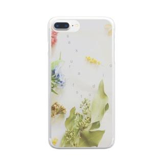 sakura f studioの丁子草とか Clear smartphone cases