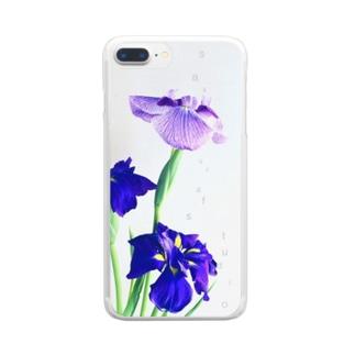 花菖蒲 Clear smartphone cases