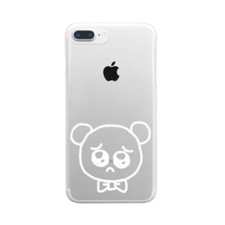 ぴえんぐま WHT Clear smartphone cases