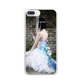 装飾切り絵・シンデレラ Clear smartphone cases