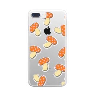 きのこキノコきのこ Clear smartphone cases