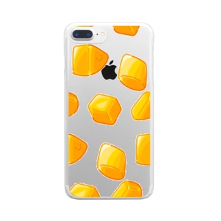 にくらしいカットマンゴー Clear smartphone cases