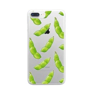 榎木ゆきのにくらしいえだまめ Clear smartphone cases