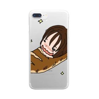 パンに埋もれたい♥️ Clear smartphone cases