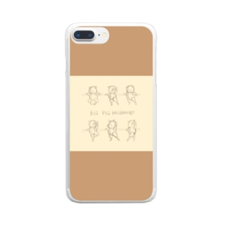 BAR LESSON PIGS:sketch two tone Clear smartphone cases