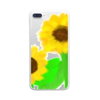 元気いっぱいひまわり! Clear Smartphone Case