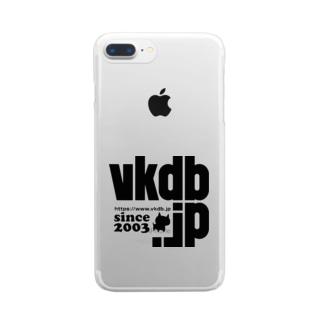 vkdb新ロゴ クリアスマートフォンケース