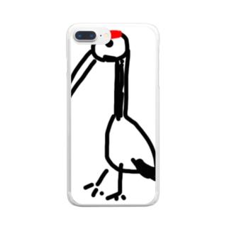 助けられた鶴 Clear smartphone cases