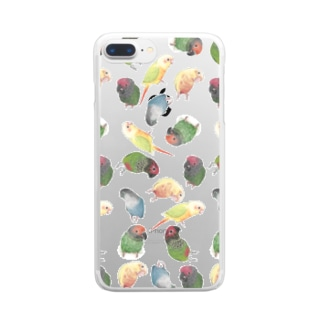 たっぷりウロコインコちゃん【まめるりはことり】 Clear Smartphone Case