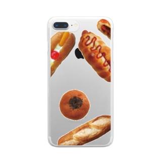 新デザインパンのパン文字 クリアスマートフォンケース