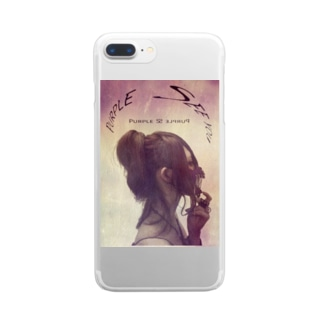 PURPLE Clear smartphone cases