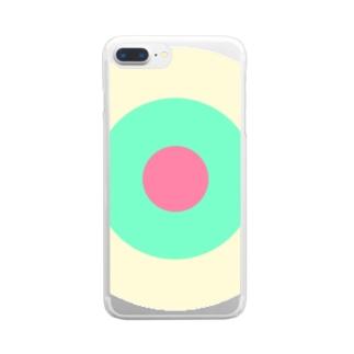 サークルa・クリーム・ペパーミント・ピンク2 Clear Smartphone Case