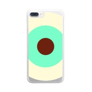 サークルa・クリーム・ペパーミント・チョコ Clear smartphone cases