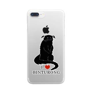 アイ・ラブ・ビントロング Clear Smartphone Case