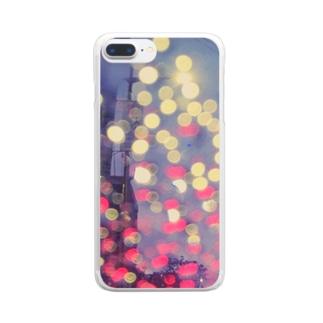 ネオンドロップ Clear smartphone cases