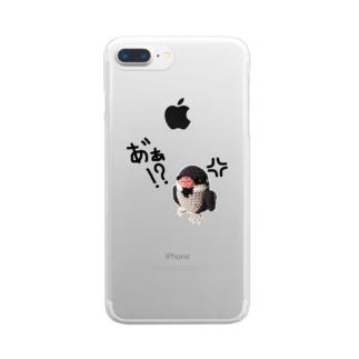 キレてるスズメ Clear smartphone cases