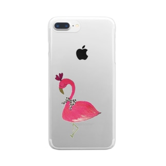 flamingo  PINK 🎀 Clear smartphone cases