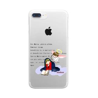 「みな☆の」の受胎告知 Clear smartphone cases