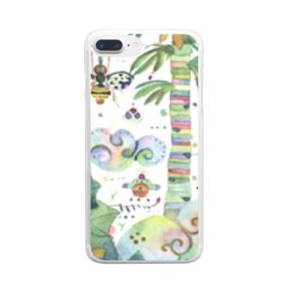 虹色のみくに Clear smartphone cases