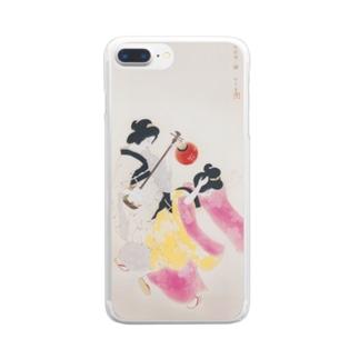 北野恒富《阿波踊》 Clear Smartphone Case