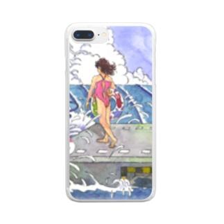海の駅 Clear smartphone cases