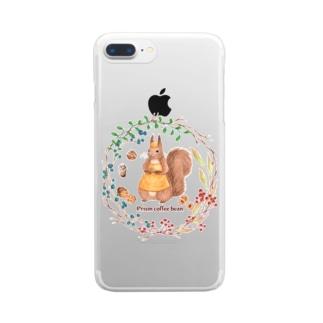 森の木の実のボタニカルカフェ Clear smartphone cases