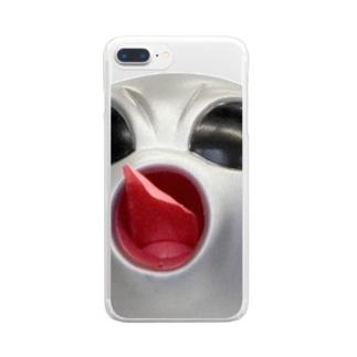 宇宙人つかまえた!! スマホケース Clear smartphone cases