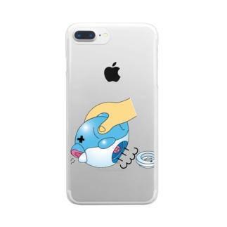 おふろでどうぶつボール(開腹) スマホケース  Clear smartphone cases