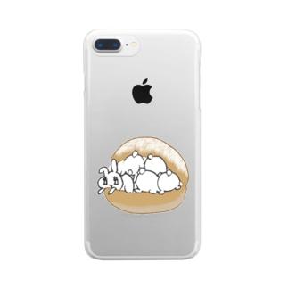 うさトッツォ(おしりver.) Clear smartphone cases