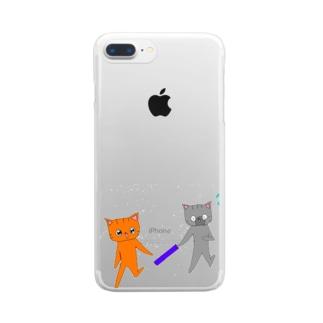 バトンタッチ!! Clear smartphone cases