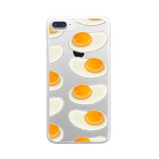 にくらしい生卵 Clear smartphone cases